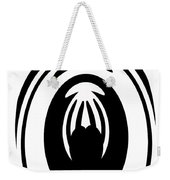 Abstract Jellyfish Black And White Digital Painting Weekender Tote Bag