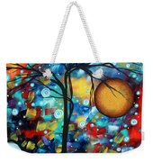 Abstract Landscap Art Original Circle Of Life Painting Sweet Serenity By Madart Weekender Tote Bag