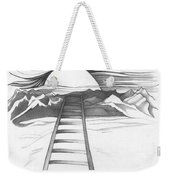 Abstract Landscape Art Black And White Baby Please Don't Go By Romi Weekender Tote Bag