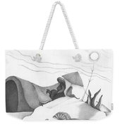 Abstract Landscape Art Black And White Beach Cirque De Mor By Romi Weekender Tote Bag