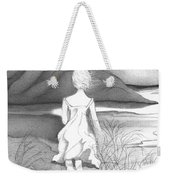 Abstract Landscape Art Black And White Dream The Jumping Off Place By Romi Weekender Tote Bag