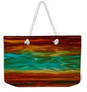 Abstract Landscape Art - Fire Over Copper Lake - By Sharon Cummings Weekender Tote Bag
