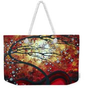 Abstract Landscape Art Original Painting Where Dreams Are Born By Madart Weekender Tote Bag