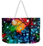 Abstract Landscape Colorful Contemporary Painting By Megan Duncanson Brilliance In The Sky Weekender Tote Bag by Megan Duncanson