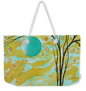 Abstract Landscape Painting Animal Print Pattern Moon And Tree By Madart Weekender Tote Bag