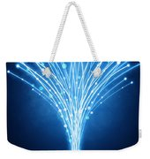 Abstract Lighting Lines Weekender Tote Bag