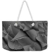 Abstract - Lines - Path To Destruction Weekender Tote Bag