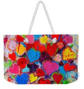 Abstract Love Bouquet Of Colorful Hearts And Flowers Weekender Tote Bag