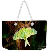 Abstract Luna Moth Painterly Weekender Tote Bag