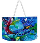 Abstract Mindscape No.5-improvisation Piano And Trumpet Weekender Tote Bag by Wolfgang Schweizer