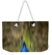 Abstract Moving Peacock  Weekender Tote Bag by Georgeta Blanaru