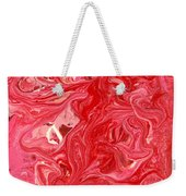 Abstract - Nail Polish - My Ice Cream Melted Weekender Tote Bag by Mike Savad