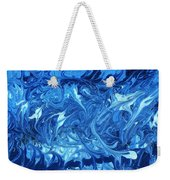Abstract - Nail Polish - Ocean Deep Weekender Tote Bag by Mike Savad