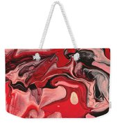 Abstract - Nail Polish - Raspberry Nebula Weekender Tote Bag by Mike Savad