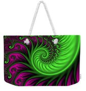 Abstract Neon Colors Fractal Weekender Tote Bag
