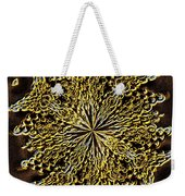 Abstract Neon Gold Weekender Tote Bag