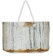 Abstract Neutral Landscape Pond Reflection Painting Mystified Dreams I By Megan Ducanson Weekender Tote Bag