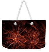 Abstract Of Fireworks On Black Weekender Tote Bag