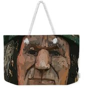 Abstract Of Wooden Indian Head Weekender Tote Bag