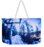 Abstract On A Ski Lift Weekender Tote Bag