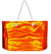 Abstract Orange Weekender Tote Bag