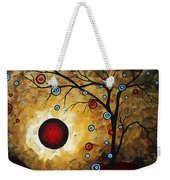 Abstract Original Gold Textured Painting Frosted Gold By Madart Weekender Tote Bag