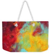 Abstract Original Painting Colorful Vivid Art Colors Of Glory I By Megan Duncanson Weekender Tote Bag