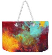 Abstract Original Painting Colorful Vivid Art Colors Of Glory II By Megan Duncanson Weekender Tote Bag