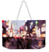 Abstract Out-of-focus City Scenery With Colorful Lights Weekender Tote Bag