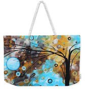 Abstract Painting Chocolate Brown Whimsical Landscape Art Baby Blues By Madart Weekender Tote Bag