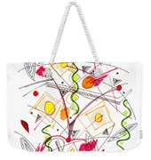Abstract Pen Drawing Fifty-five Weekender Tote Bag