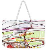 Abstract Pen Drawing Forty-five Weekender Tote Bag