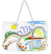 Abstract Pen Drawing Forty-four Weekender Tote Bag