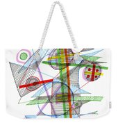 Abstract Pen Drawing Forty-nine Weekender Tote Bag