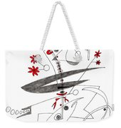Abstract Pen Drawing Seventy-eight Weekender Tote Bag