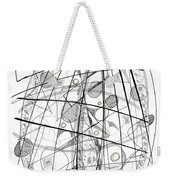 Abstract Pen Drawing Sixty-eight Weekender Tote Bag