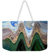 Abstract - Penguins On Ice Weekender Tote Bag