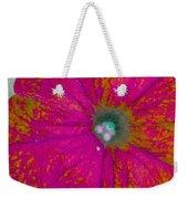 Abstract Petunia Weekender Tote Bag