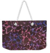 Abstract Pink And Purple Weekender Tote Bag