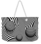 Abstract - Poke Out My Eyes Weekender Tote Bag by Mike Savad