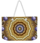Abstract Pond In Gold Weekender Tote Bag