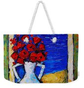 Abstract Poppies By The Sea Weekender Tote Bag