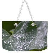 Abstract Rain Glitter Weekender Tote Bag