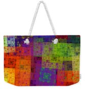Abstract - Rainbow Bliss - Fractal - Square Weekender Tote Bag