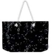 Abstract Raindrops Black And White Weekender Tote Bag