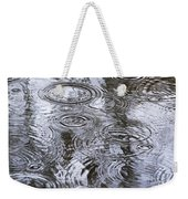 Abstract Raindrops Weekender Tote Bag by Christina Rollo