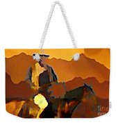 Abstract Range Riding Weekender Tote Bag