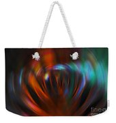 Abstract Red And Green Blur Weekender Tote Bag