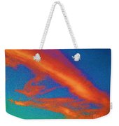 Abstract Red Blue And Green Sky Weekender Tote Bag