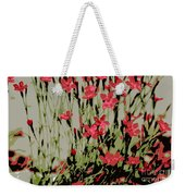 Abstract Red Flowers Weekender Tote Bag